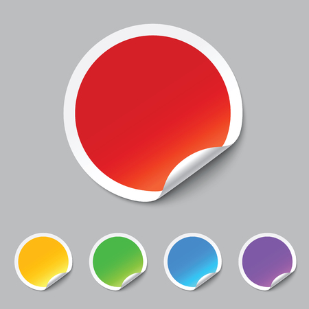 vector stickers Illustration