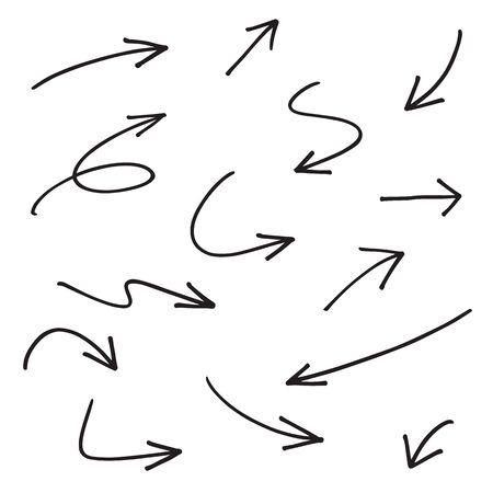 felt: vector hand drawn arrows Illustration