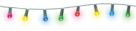seamless christmas lights vector illustration Illustration