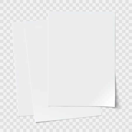 vector stack of papers, transparent shadows, grouped, can be moved separately 矢量图像