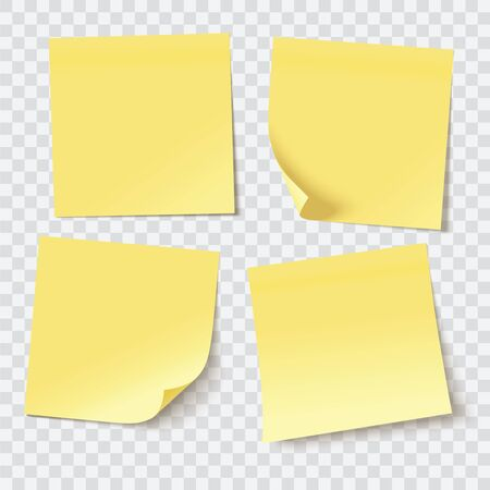 sticky: yellow sticky notes, vector illustration