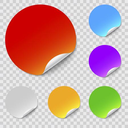vector round stickers set Illustration