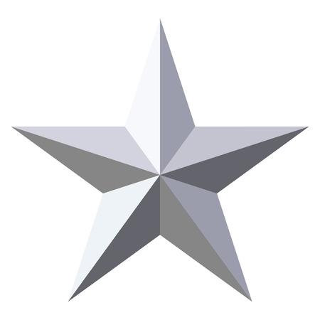 Vector estrella de plata Foto de archivo - 85495282