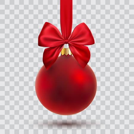 chrstmas: chrstmas ball with ribbon and bow, vector illustration Illustration