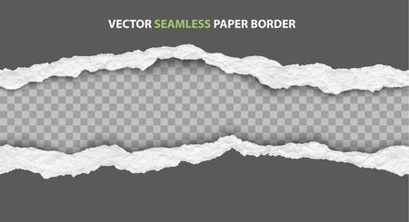 Ilustración de bordes de papel rasgado