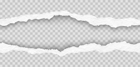 Ilustracja rozdarty papier krawędzie Ilustracje wektorowe