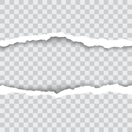 Seamless torn paper edges, vector illustration