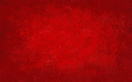 Red abstract background with bright center spotlight. Digital painting. Vector illustration.