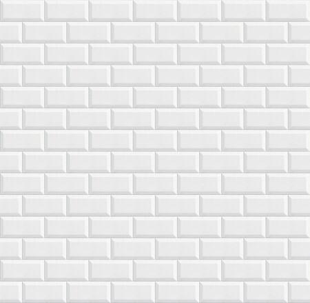 azulejos de cerámica sin fisuras, textura de fondo de pared blanca Foto de archivo