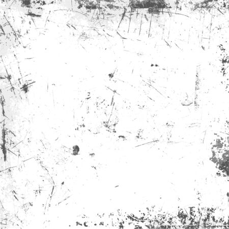 Grunge urban texture with spots and scratches. Black and White background template. Dirty background for your poster or web design. Simple vector illustration. 矢量图像