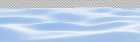 Snow landscape. Winter snowy background. Snowdrift, vector illustration.