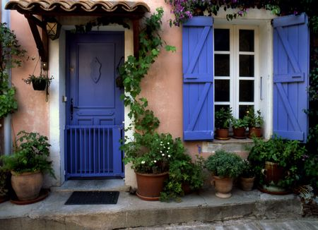 res: Blue Door in Provence - France