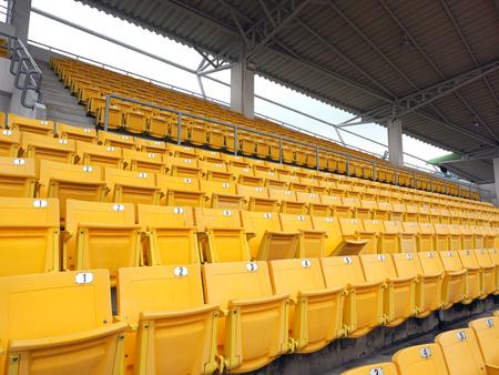 Rows seats on the stadium Editorial