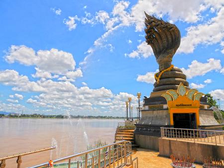 Naga at Mekong River Nakhon Phanom Thailand Stok Fotoğraf