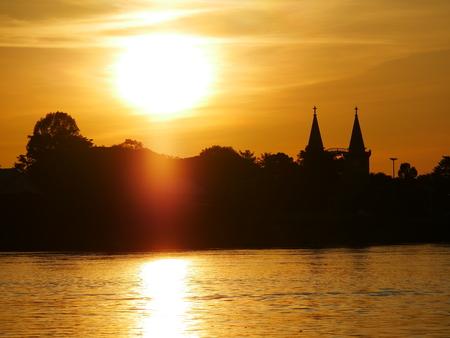Church and Sunset Stok Fotoğraf