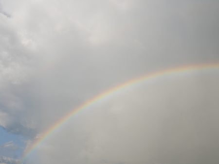 Rainbow sky cloud Stok Fotoğraf