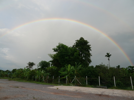 Rainbow country road Stok Fotoğraf