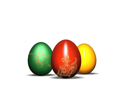 3d easter eggs Stock Photo - 3150136