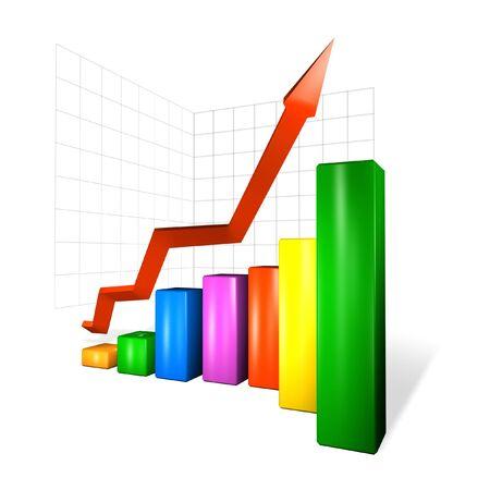 receipts: colour graph Stock Photo