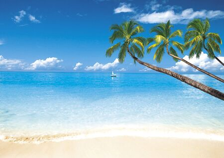 Island  on the ocean (picture  for advertising travel industry) Stock Photo
