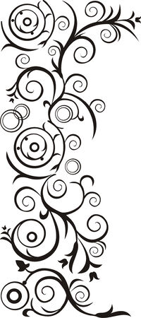 ringlet: Vektor image for decoration page