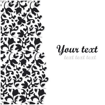 vector black flower background  Çizim