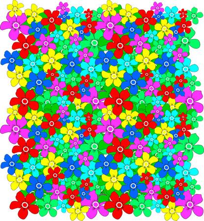 vector color flower background Vector