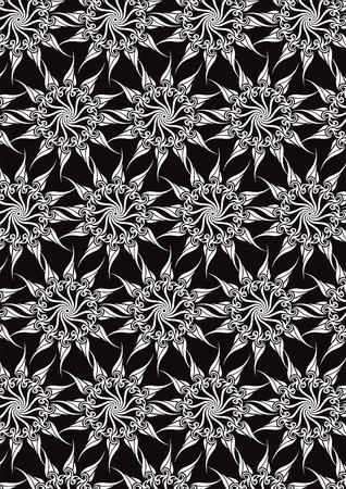 sumptuousness: Black magic background  Illustration