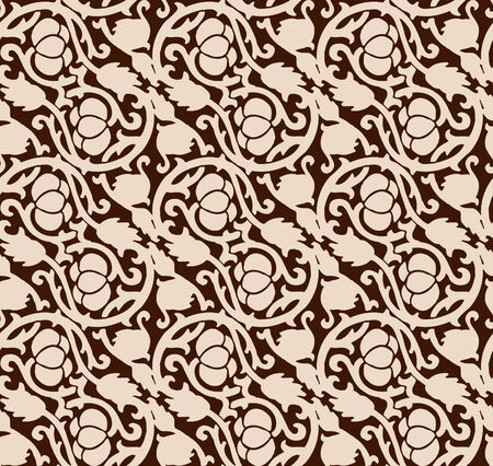 sumptuousness: Vector seamless luxurious chocolate pattern