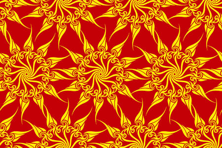 sumptuousness: Vector seamless sun magic pattern  Illustration