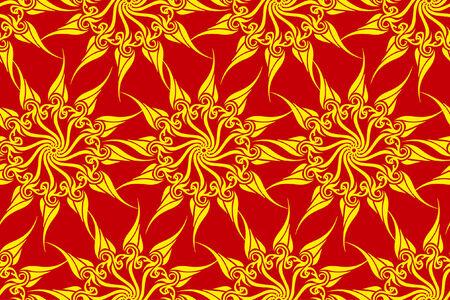 sumptuousness: Vector seamless sun magic pattern  Illustration