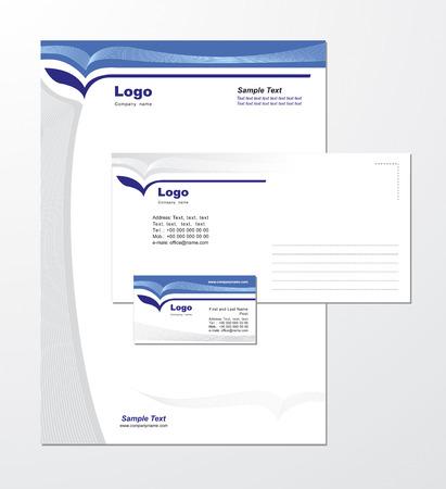 identitat: Corporate Identity Vorlage Vector 1