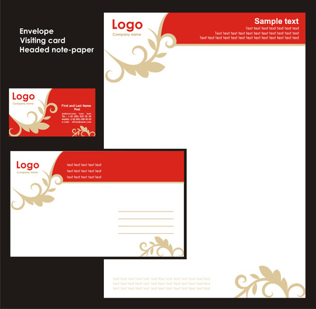 Corporate Identity Template Vector 2 Stock Vector - 3262713