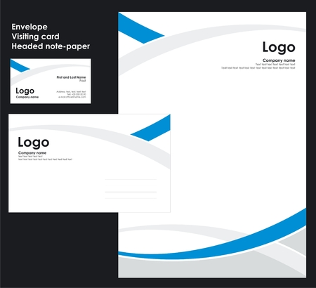 identity template: Corporate Identity Template Vector 3 Illustration