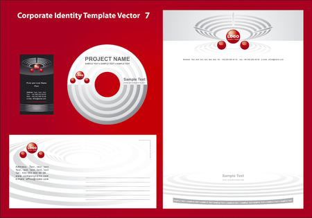 Corporate Identity Template Vector 7