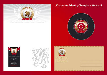 Corporate Identity Template Vector 8 Stock Vector - 3262731