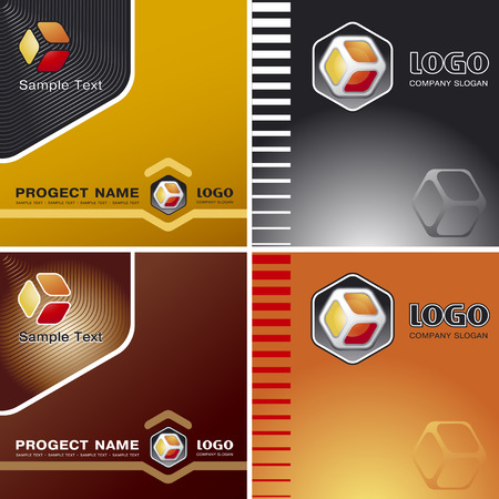 Corporate Vector Business Template Background with Logo