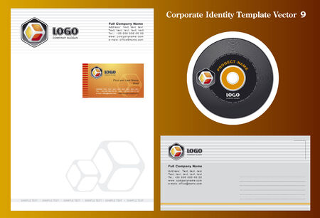Corporate Vector Business Template 9 Stock Vector - 3262730