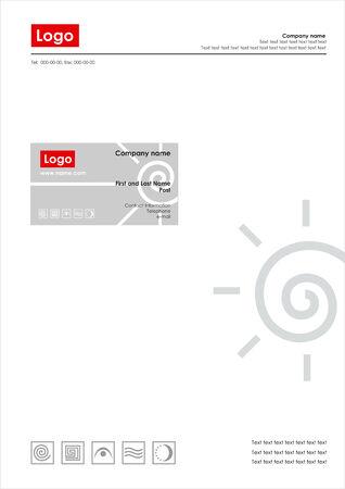 Corporate Identity Template Vector Çizim