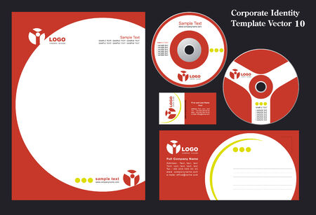 Corporate Vector Business Template 10 Stock Vector - 3262736