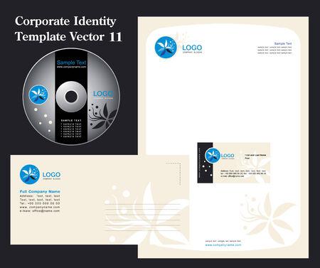 headed: Corporate Business vettore modello 11