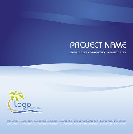 headed: Azienda vettore modello di business di fondo con logo