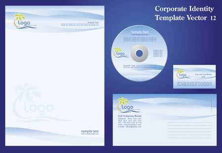 Corporate Vector Business Template 12 Stock Vector - 3262727