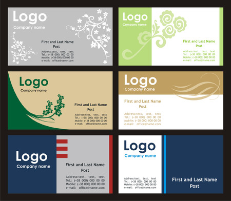 Collection business cards templates  Illustration