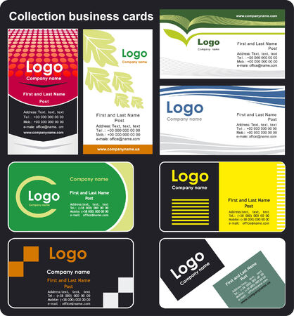 Collection business cards templates  Stock Vector - 3296884