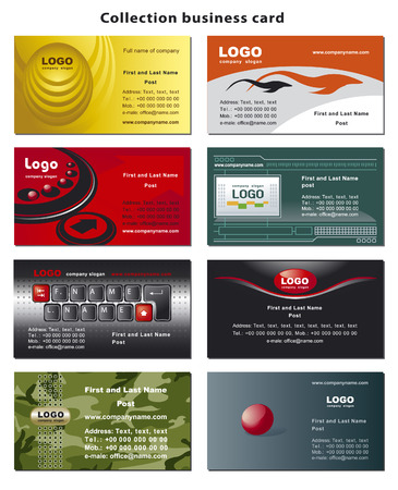 Collection business cards templates  Çizim
