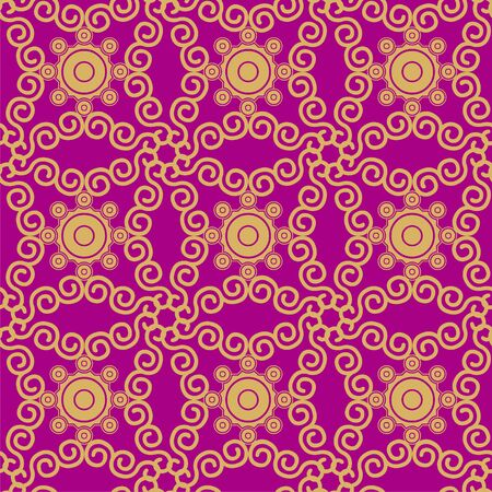 sumptuousness: Seamless pattern – violet and gold Illustration