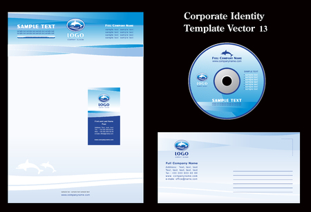 Dolphins Corporate Vector Business Template  Çizim
