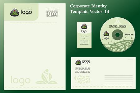 Natural Corporate Vector Business Template  Çizim