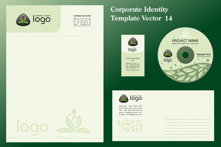 Natural Corporate Vector Business Template  Illustration